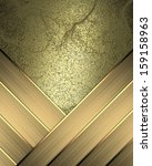 brushed metal plate with... | Shutterstock . vector #159158963