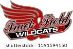 wildcats track   field team... | Shutterstock .eps vector #1591594150
