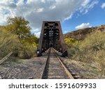 Old Rusty Train Bridge With A...