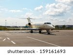 white private jet on the...   Shutterstock . vector #159161693