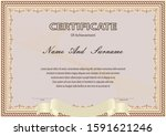 certificate or diploma vintage... | Shutterstock .eps vector #1591621246