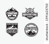 adventure vector logos and... | Shutterstock .eps vector #1591623703