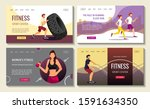 set of web page design... | Shutterstock .eps vector #1591634350