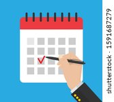 businessman hand with pen .mark ...   Shutterstock .eps vector #1591687279