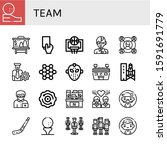 Set Of Team Icons. Such As Gol...
