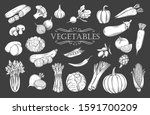 vegetables glyph isolated icons ... | Shutterstock .eps vector #1591700209