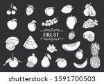 fruit glyph icons set.... | Shutterstock .eps vector #1591700503