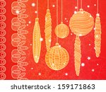 bright christmas greeting card... | Shutterstock . vector #159171863