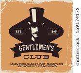 Vintage Label With Gentleman  ...