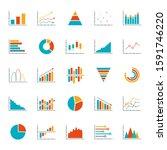 graph  chart  diagram icon set. ... | Shutterstock . vector #1591746220
