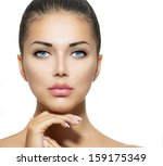 beautiful woman face. beauty...   Shutterstock . vector #159175349