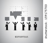 consensus   speech bubble... | Shutterstock .eps vector #159175703