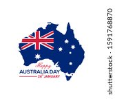 happy australia day 26th... | Shutterstock .eps vector #1591768870