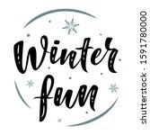 Winter Fun. Hand Drawn Simple...