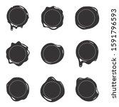 black silhouette postage wax...   Shutterstock .eps vector #1591796593