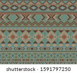 navajo american indian pattern...   Shutterstock .eps vector #1591797250
