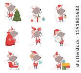 collection of cute mouse in...   Shutterstock .eps vector #1591801633