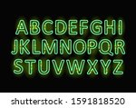 neon letters. graphic template. ...   Shutterstock .eps vector #1591818520