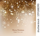 elegant christmas background... | Shutterstock .eps vector #159188390