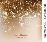 elegant christmas background... | Shutterstock .eps vector #159188390