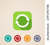 flat icons for web and mobile... | Shutterstock .eps vector #159190748