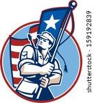 illustration of an american... | Shutterstock . vector #159192839