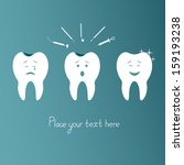 dental treatment and care.... | Shutterstock .eps vector #159193238