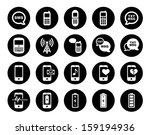 cell phone   mobile phone icon... | Shutterstock . vector #159194936
