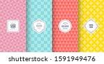 Retro Pastel Patterns. Set Of...