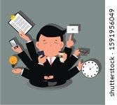 competent businessman concept....   Shutterstock .eps vector #1591956049