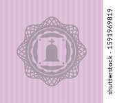 tombstone icon inside pink... | Shutterstock .eps vector #1591969819