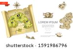 colorful treasures background...   Shutterstock .eps vector #1591986796