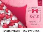 valentine's day sale promotion... | Shutterstock .eps vector #1591992256