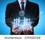 businessman with financial... | Shutterstock . vector #159200168