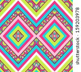 colorful zig zag pattern ... | Shutterstock .eps vector #159203978