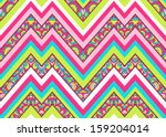 colorful zig zag pattern ... | Shutterstock .eps vector #159204014