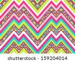 colorful zig zag pattern ... | Shutterstock .eps vector #159204014