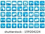 vector icon for hotel facilities   Shutterstock .eps vector #159204224