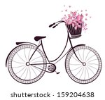 bicycle with a basket full of... | Shutterstock .eps vector #159204638