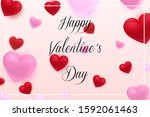 valentine's day background with ... | Shutterstock .eps vector #1592061463