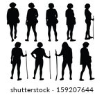 vector silhouette of a female... | Shutterstock .eps vector #159207644