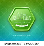 vector christmas greeting card  ... | Shutterstock .eps vector #159208154
