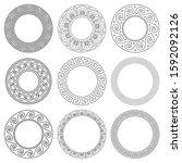 ancient greek mandala vector... | Shutterstock .eps vector #1592092126
