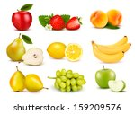 big group of different fruit.... | Shutterstock .eps vector #159209576
