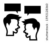 conversation icon isolated sign ...