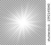 white beautiful light explodes...   Shutterstock .eps vector #1592145040