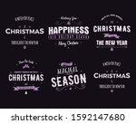 funny merry christmas  happy...   Shutterstock . vector #1592147680