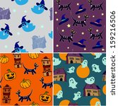 halloween collection | Shutterstock .eps vector #159216506