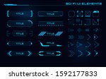 set of sci fi modern user... | Shutterstock .eps vector #1592177833