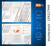 brochure design template vector ... | Shutterstock .eps vector #159217949